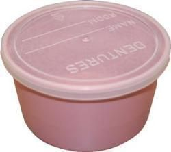 Denture Cup With Lid 8 Oz., Dusty Rose