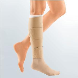 Circaid Medical® Juxta-Lite™ Standard Legging With Anklet Foot Wrap Large Long, 33cm L, Beige, 10mm Hg Static Stiffness, Juxta-Lock Band System, Latex-Free
