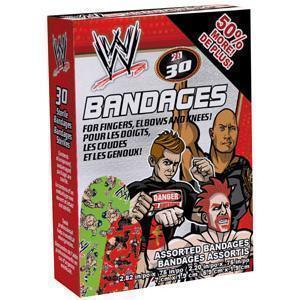 Ouchies Wwe Adhesive Bandages