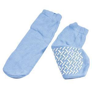Dynarex Single-Sided Treads Soft Sole Slipper Socks, Large, Sky Blue