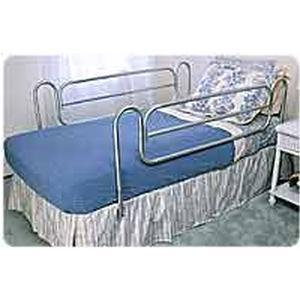 Carex Health Brands Home Style Bed Rail 58 1 2 L X 19 1 2 H 15 1 2 To 19 1 2 Height