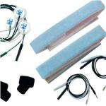 "Kendall (68) Infant Apnea Belt Kit, Standard, Includes 2 Pari Of Black Carbon Electrodes With Velcro, 2 Pair Of Socket To Pin 24"" Lead Wires, 2 Reversible Pin/blue Foam Belts, Sold By Each Kit"