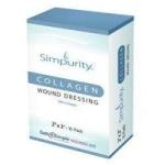 "Product Photo: Safe N Simple Simpurity™ Collagen Wound Dressing, 2"" x 2"" Pad"